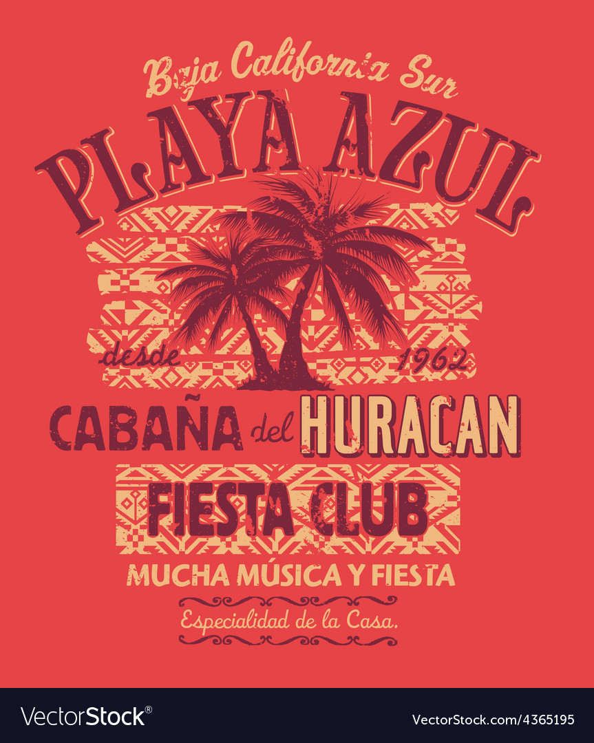 Baja california fiesta club vector | Price: 1 Credit (USD $1)