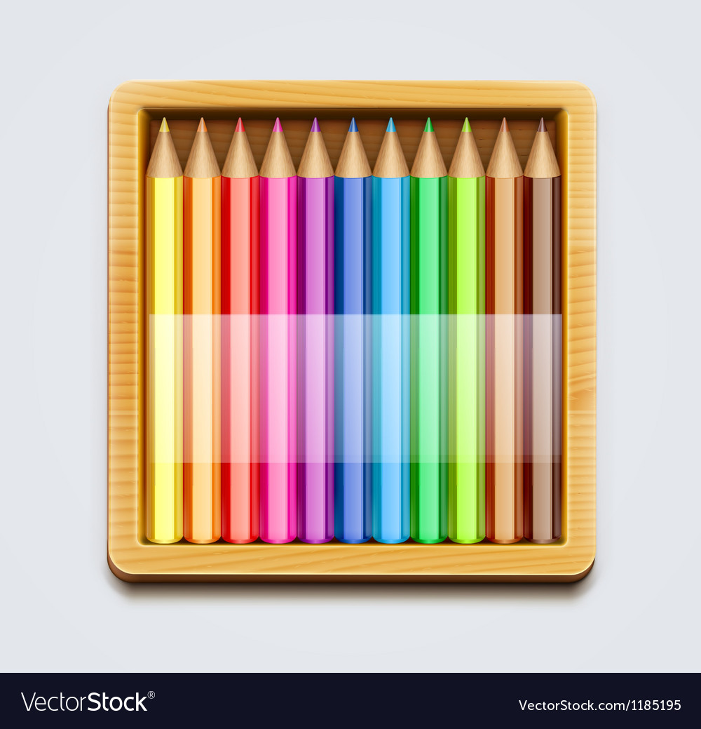 Color pencils vector | Price: 1 Credit (USD $1)