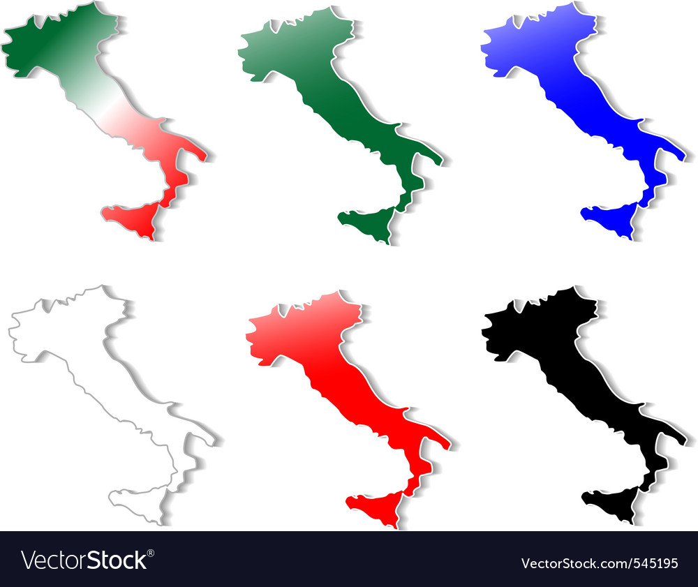 Form of italy stickers set vector | Price: 1 Credit (USD $1)