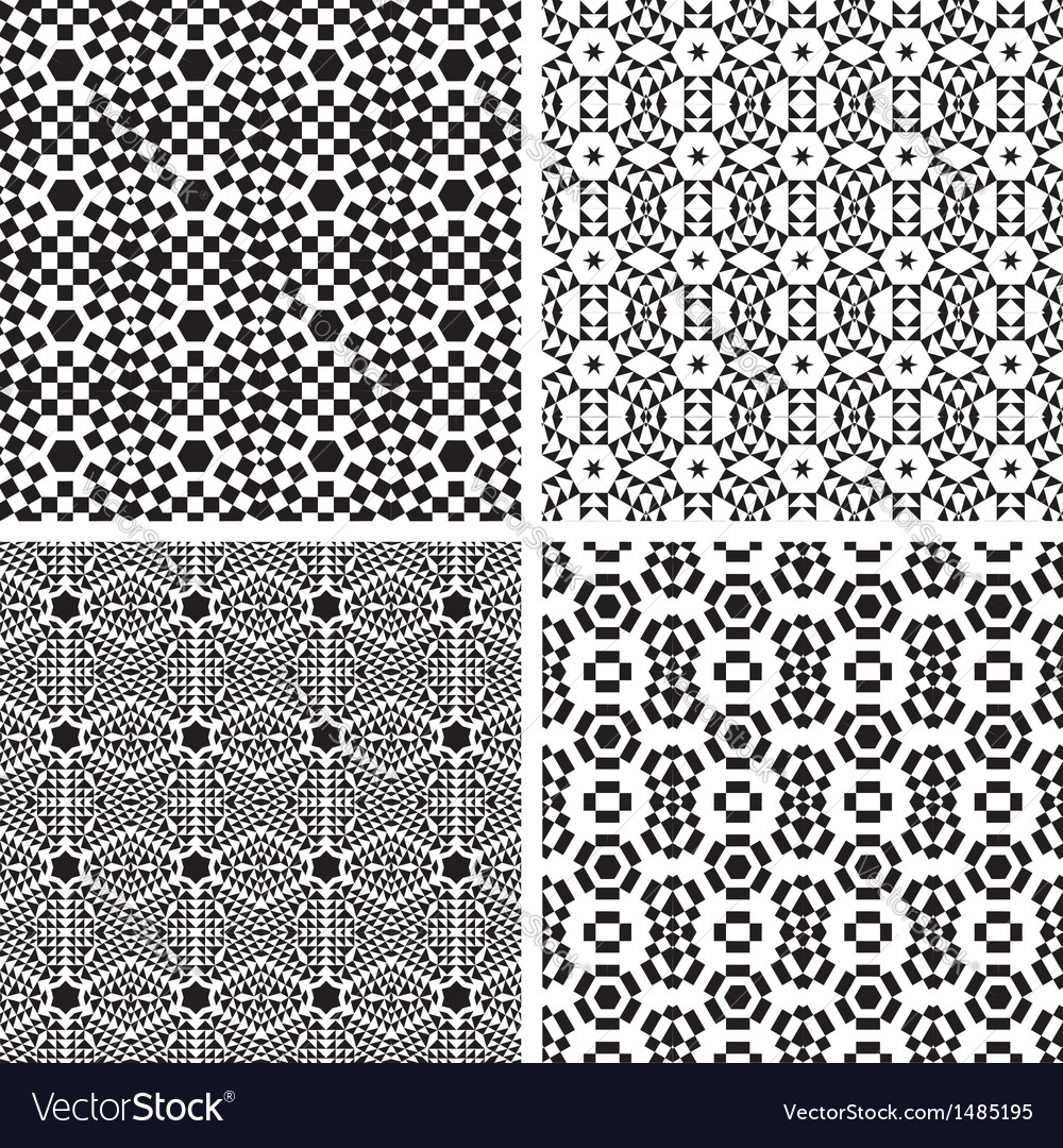 Geometric ornaments pattern set vector | Price: 1 Credit (USD $1)