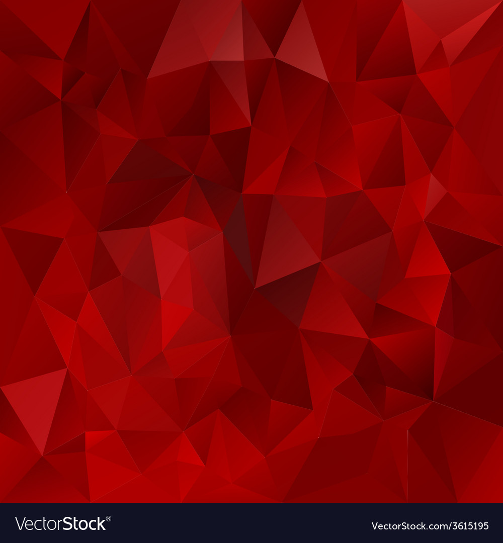 Glowing red polygonal triangular pattern vector | Price: 1 Credit (USD $1)