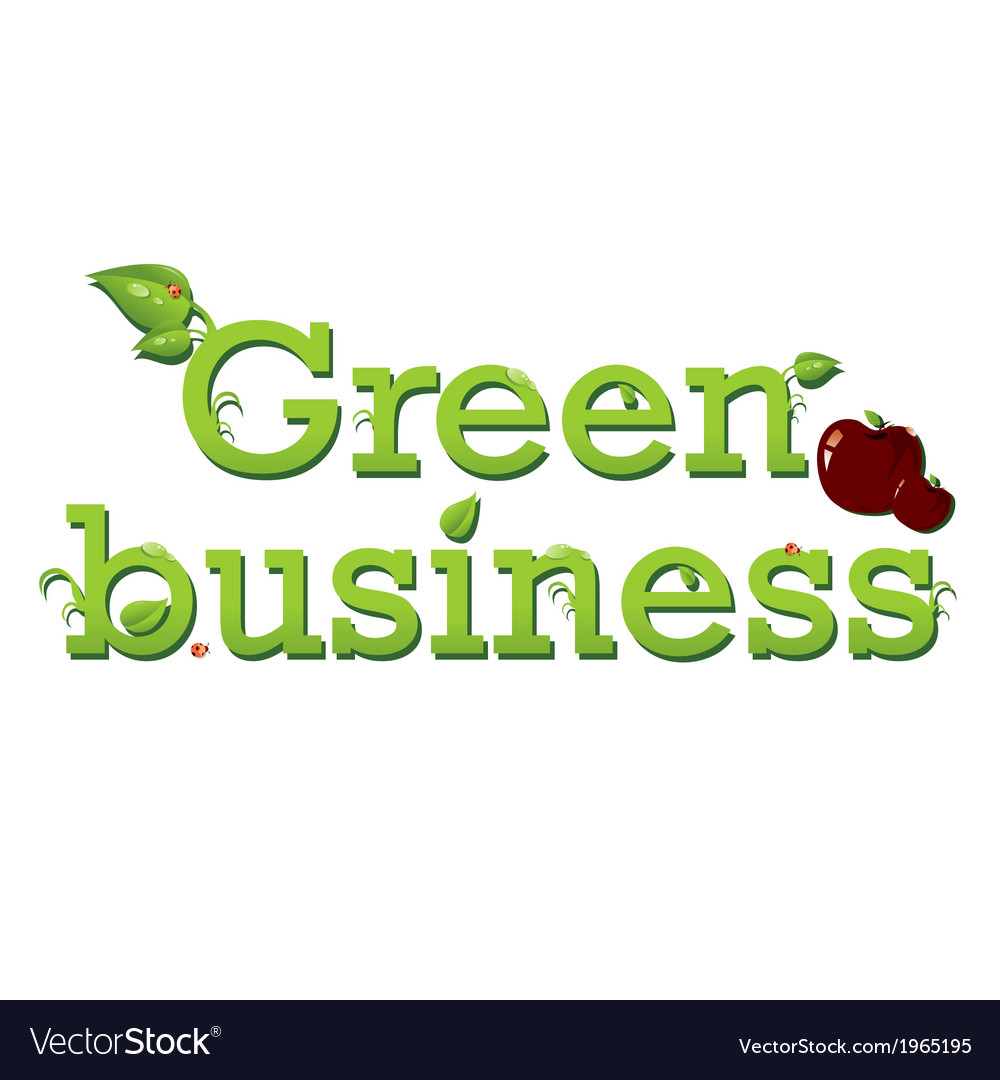 Green business vector | Price: 1 Credit (USD $1)