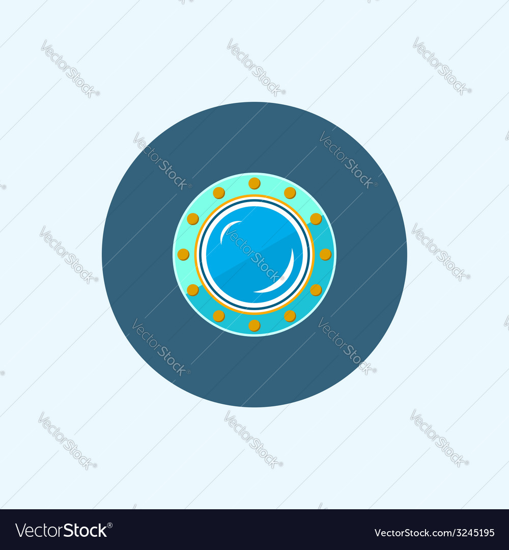 Icon with colored porthole vector | Price: 1 Credit (USD $1)