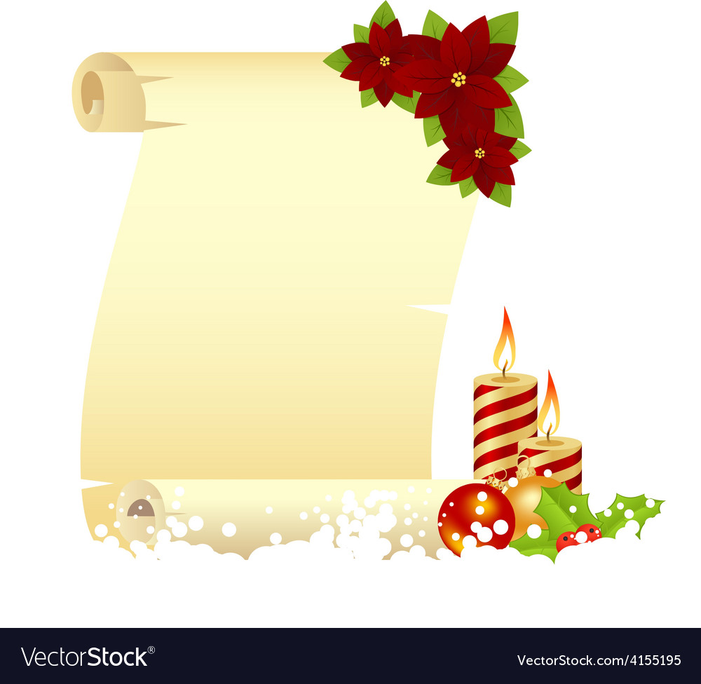 Manuscript christmas candle vector | Price: 1 Credit (USD $1)