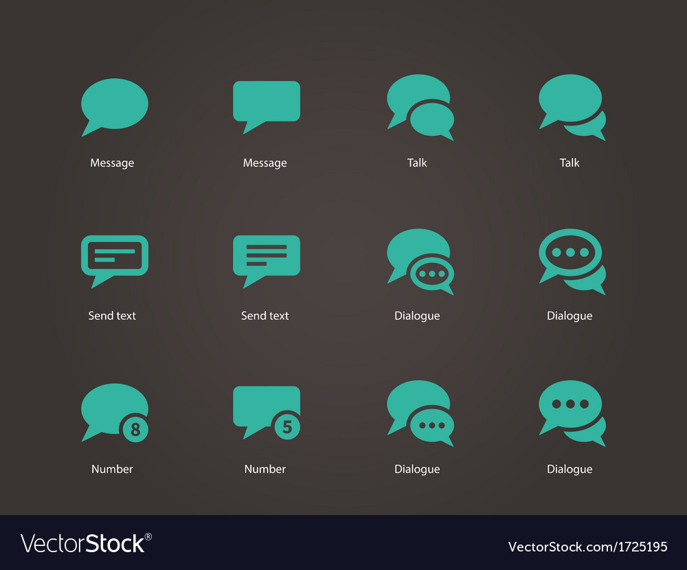 Message bubble icons vector | Price: 1 Credit (USD $1)