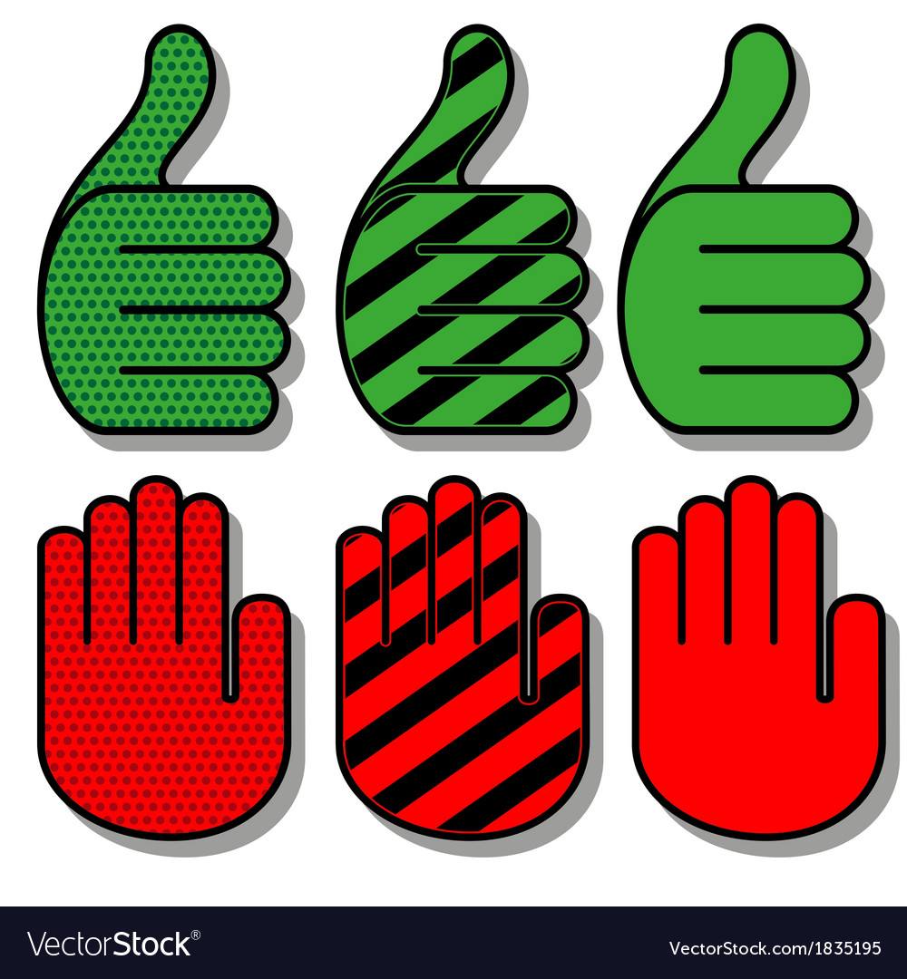 Palm hand vector | Price: 1 Credit (USD $1)