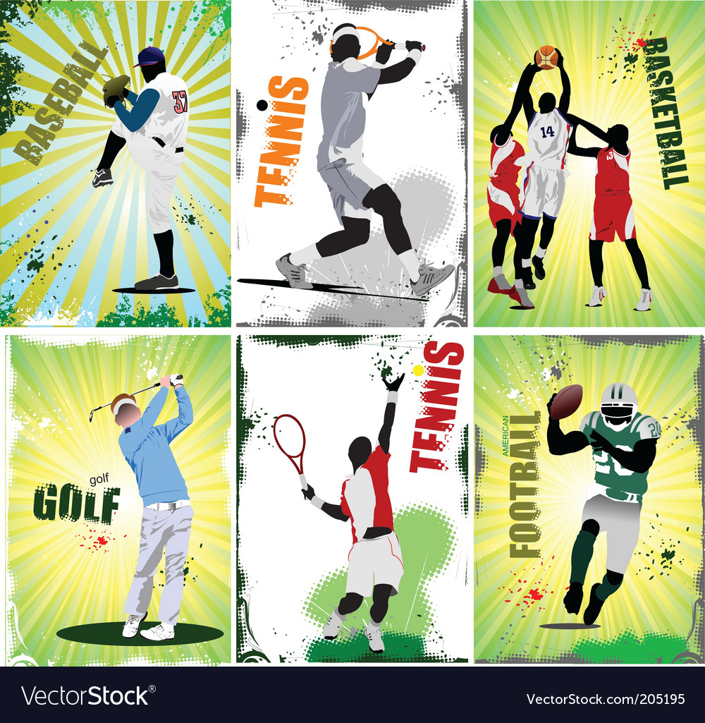 Sport posters vector | Price: 1 Credit (USD $1)