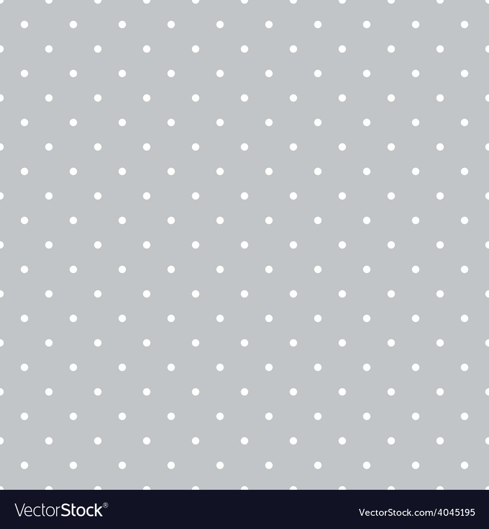 Tile pattern white polka dots on grey background vector