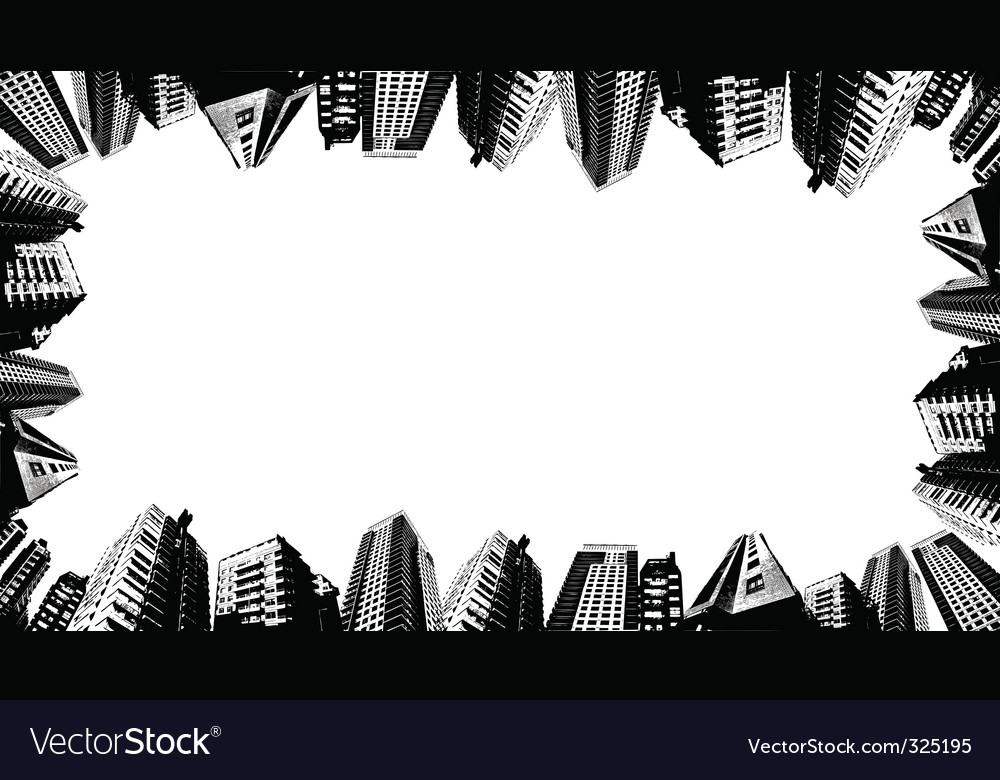 Urban border vector | Price: 1 Credit (USD $1)