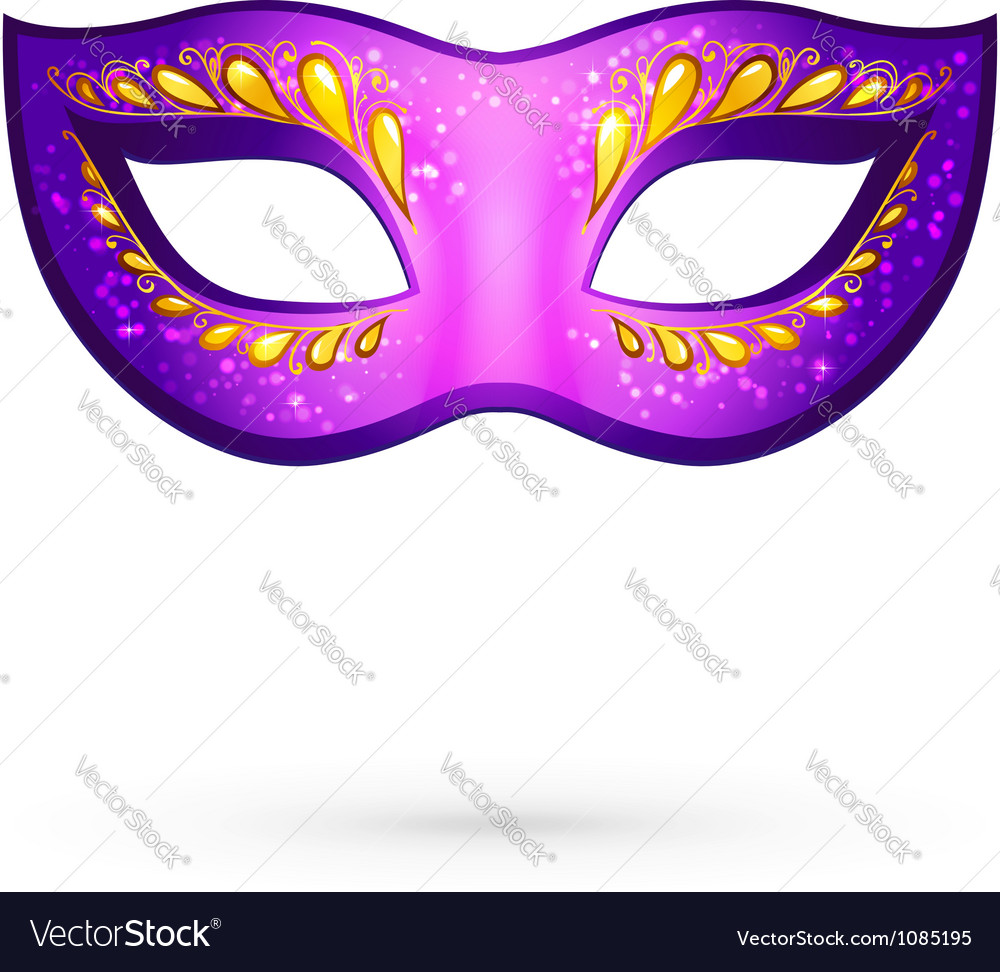 Violet venitian carnival mask vector | Price: 1 Credit (USD $1)