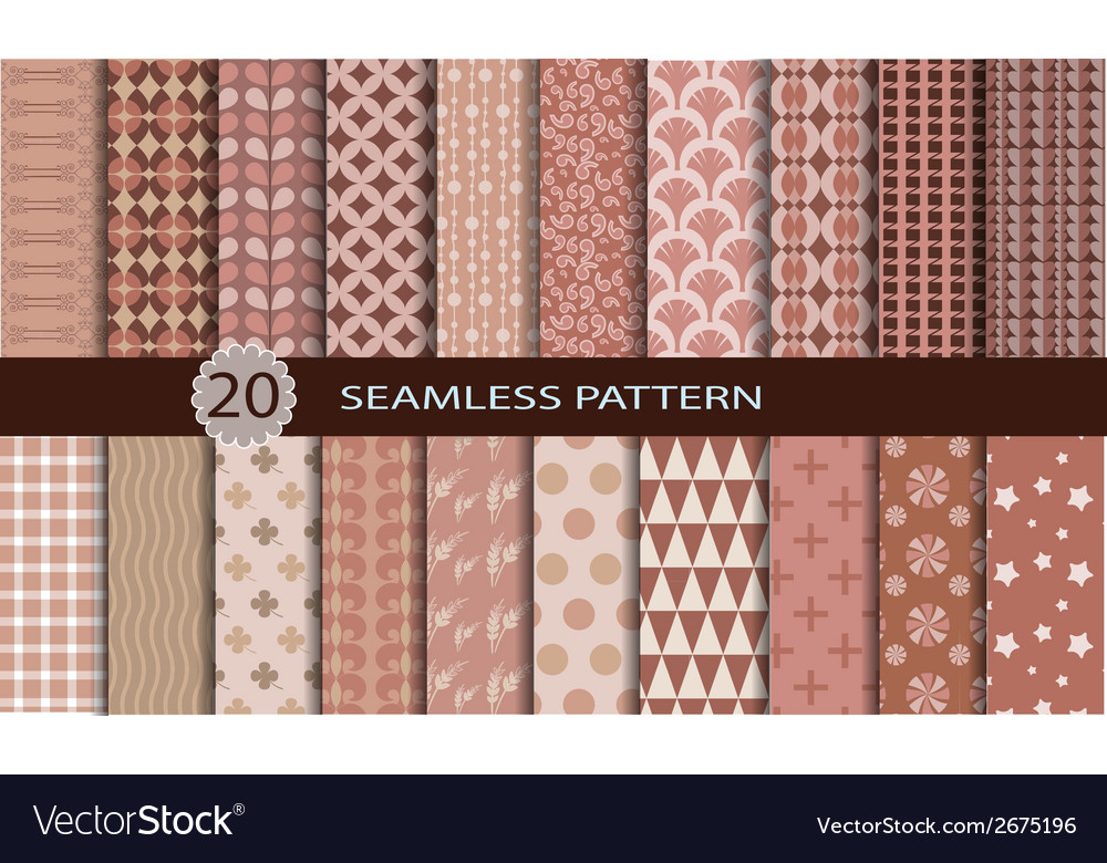 20 retro seamless patterns vector | Price: 1 Credit (USD $1)