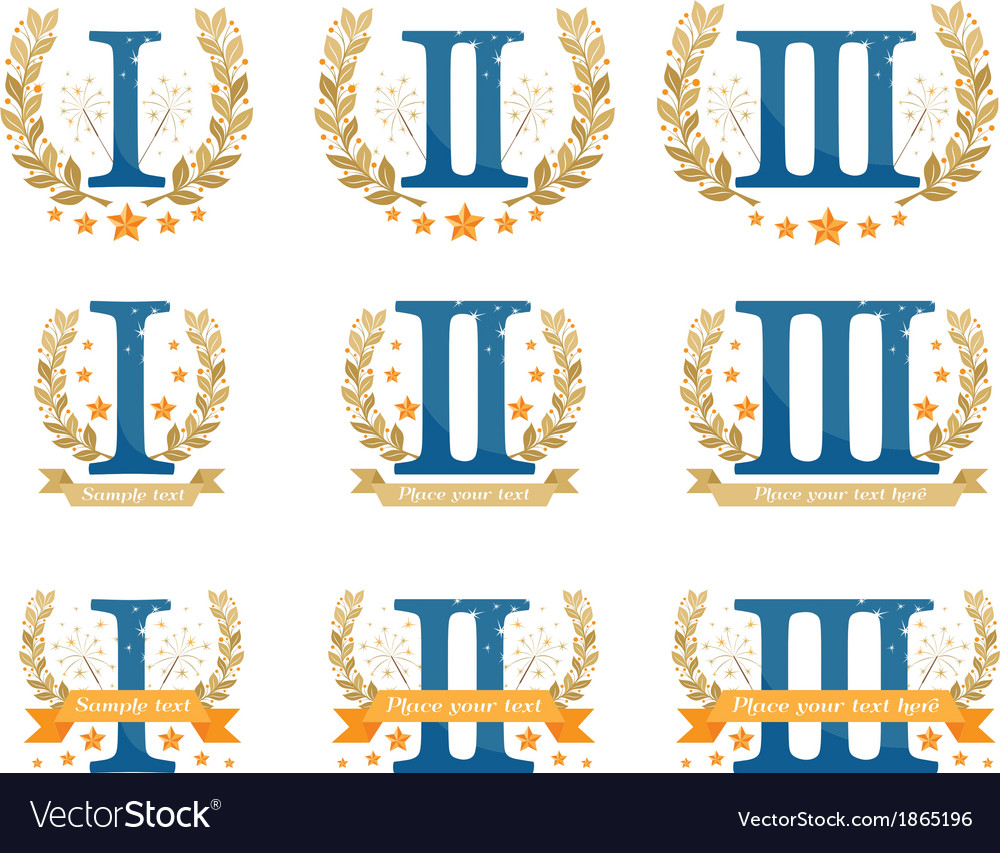 Awards emblems set vector | Price: 1 Credit (USD $1)