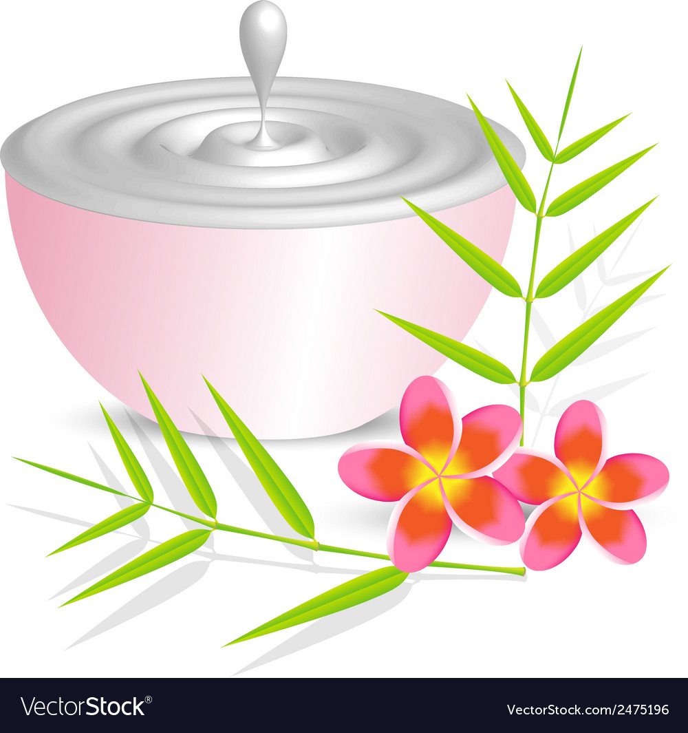 Beauty cream container on white background with vector | Price: 1 Credit (USD $1)