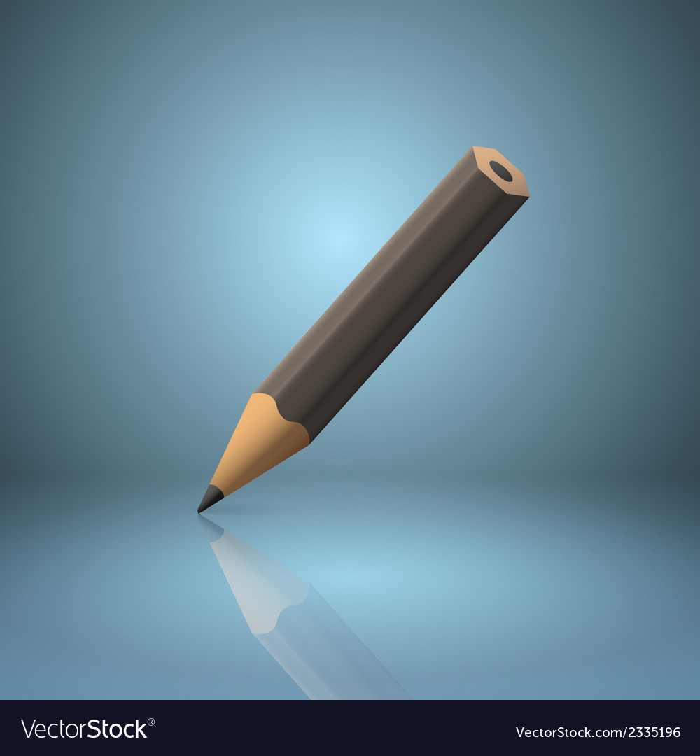 Black sharpened pencil icon vector | Price: 1 Credit (USD $1)