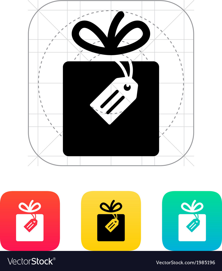 Box with label icon vector | Price: 1 Credit (USD $1)