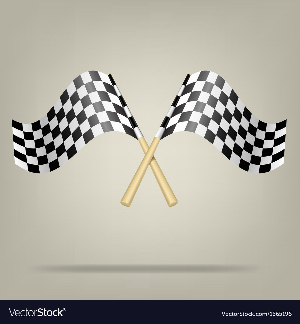 Checkered racing flags vector | Price: 1 Credit (USD $1)