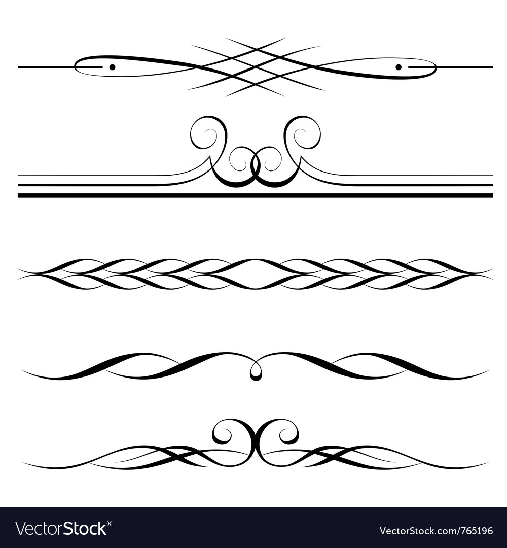 Decorative elements border vector | Price: 1 Credit (USD $1)