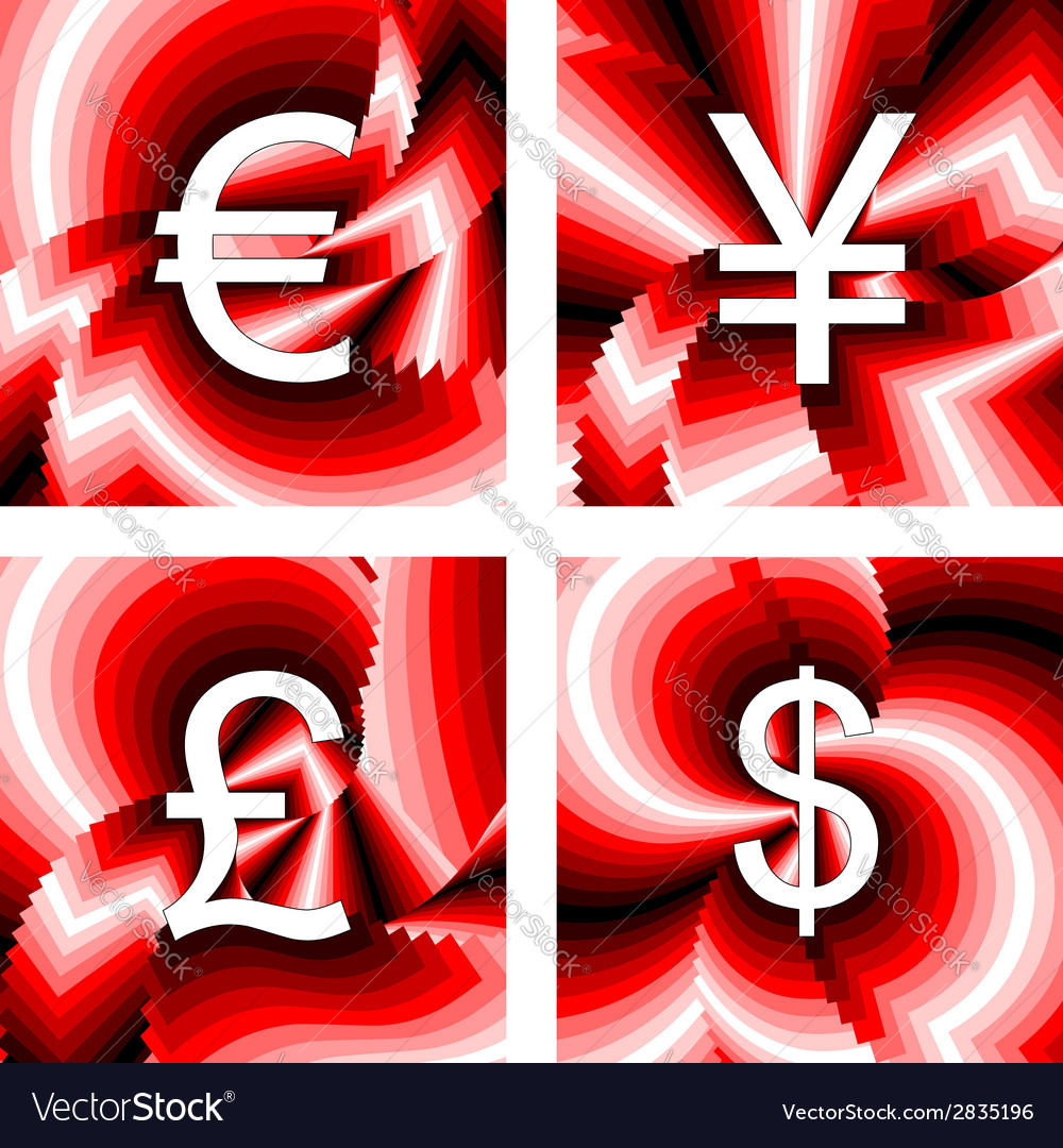 Design currency icons set vector | Price: 1 Credit (USD $1)