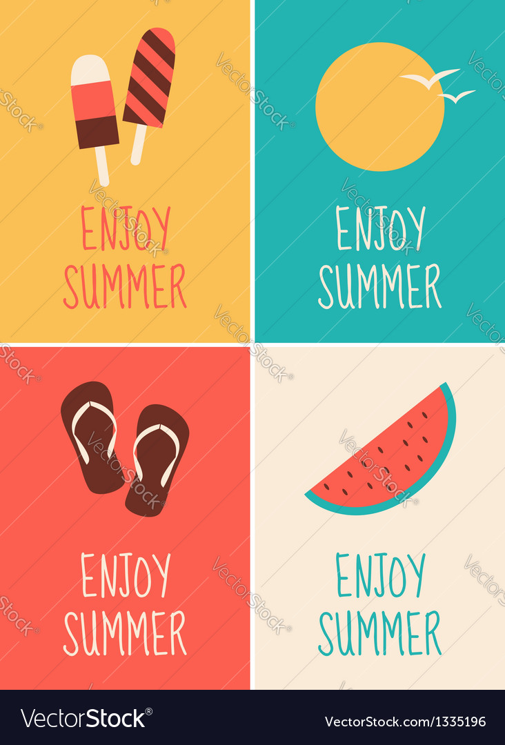 Enjoy summer collection vector | Price: 1 Credit (USD $1)