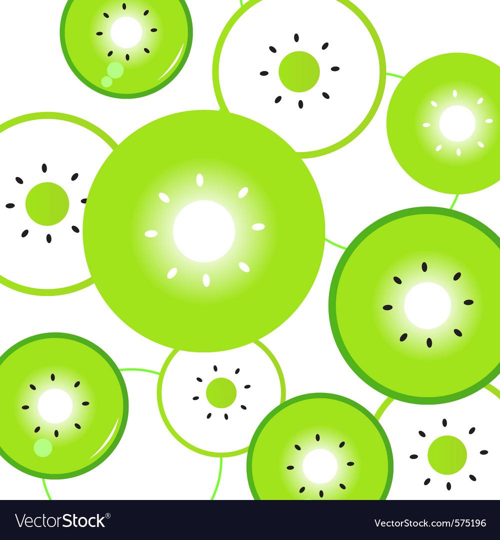 Kiwi fruit slices vector | Price: 1 Credit (USD $1)