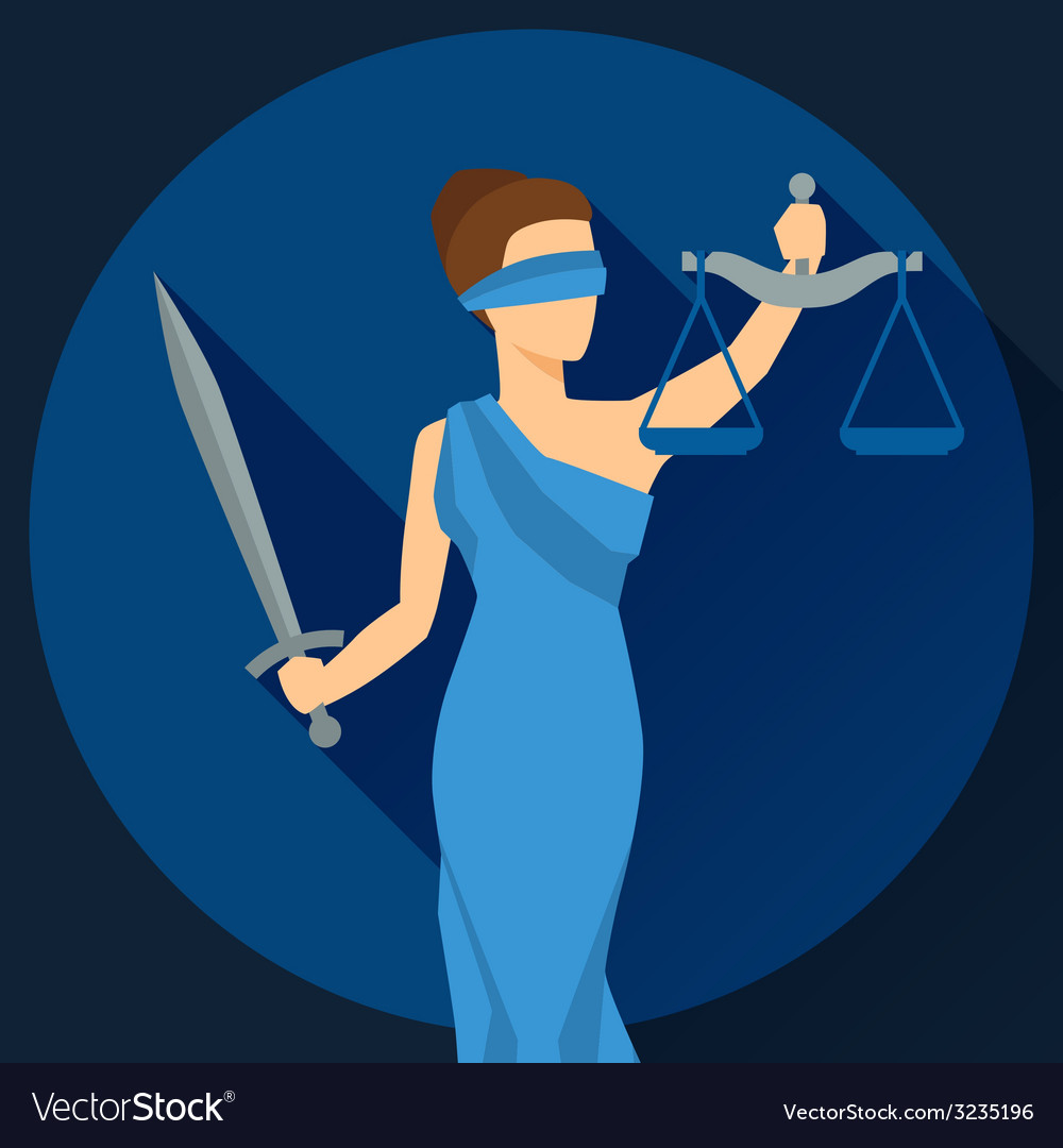 Lady justice in flat design style vector | Price: 1 Credit (USD $1)