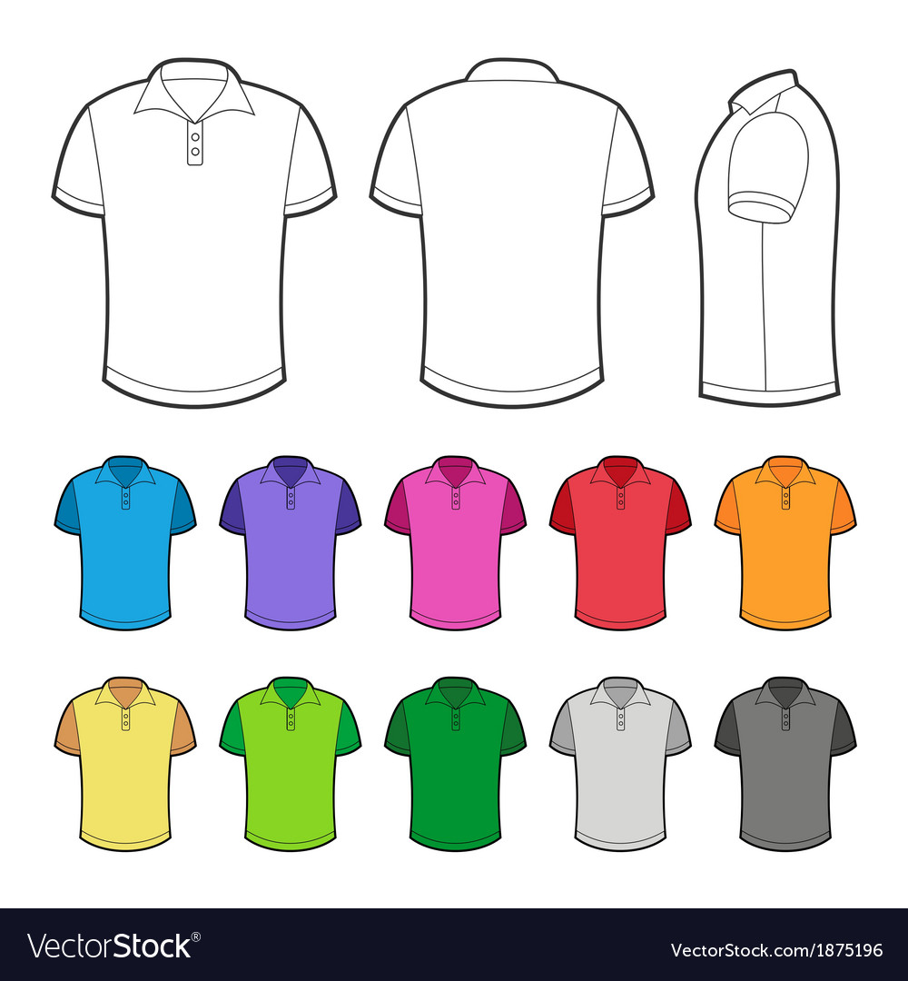 Polo in various colors vector | Price: 1 Credit (USD $1)