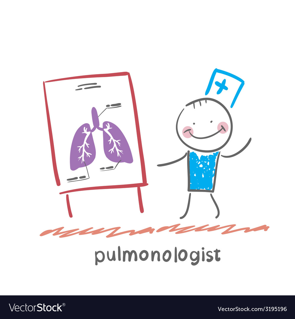 Pulmonologist says lung vector | Price: 1 Credit (USD $1)