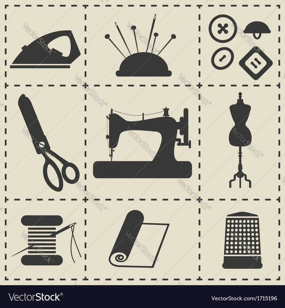 Sewing icons vector | Price: 1 Credit (USD $1)