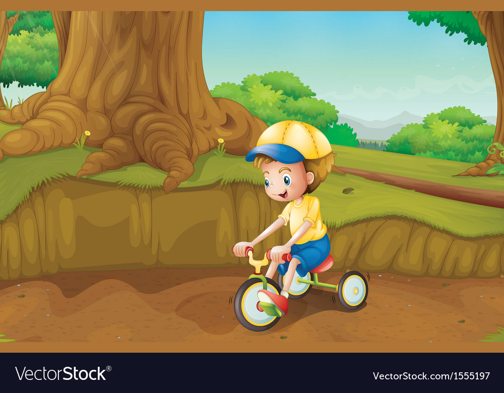 A child playing at the ground vector | Price: 1 Credit (USD $1)