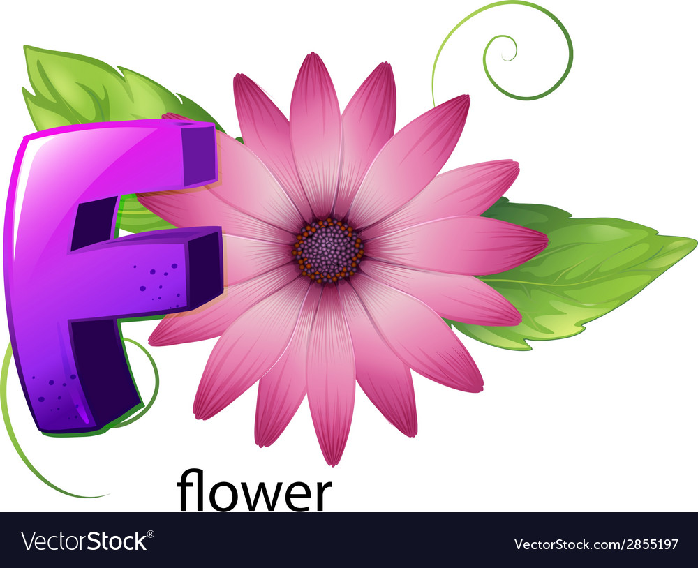 A letter f for flower vector | Price: 1 Credit (USD $1)