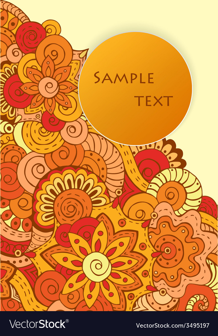 Abstract ethnic floral doodle pattern in vector | Price: 1 Credit (USD $1)