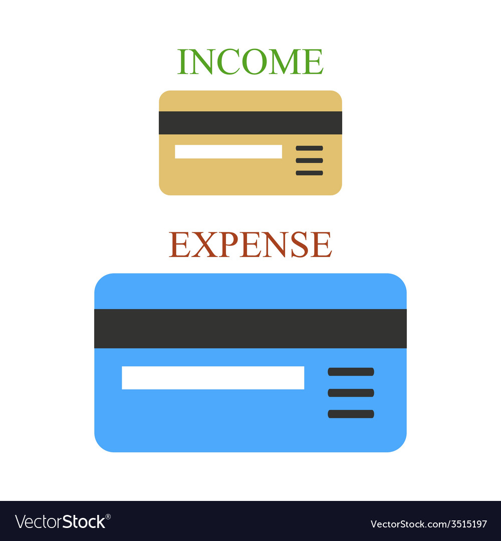 Bank cards as sings of income and expense vector | Price: 1 Credit (USD $1)
