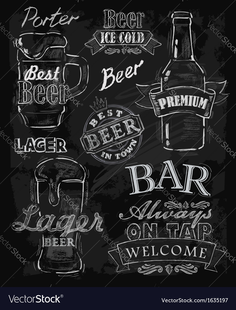 Chalk beer vector | Price: 1 Credit (USD $1)