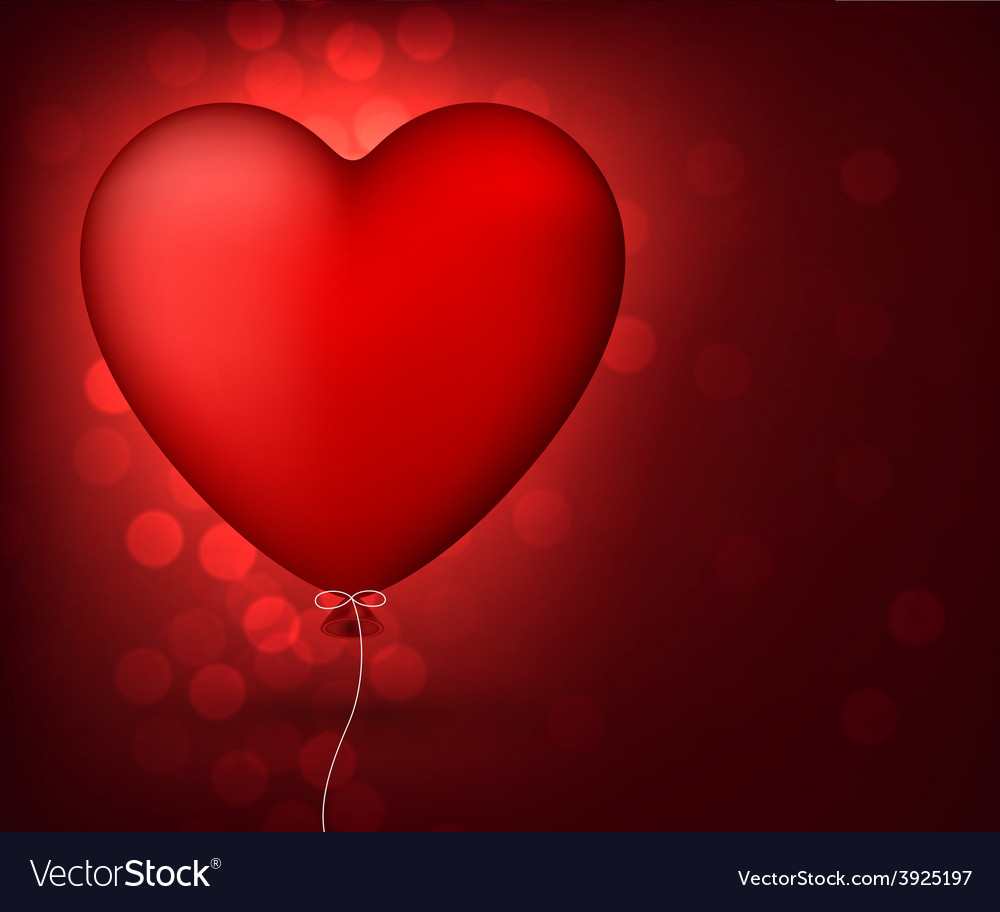 Classical red balloon heart vector   Price: 1 Credit (USD $1)