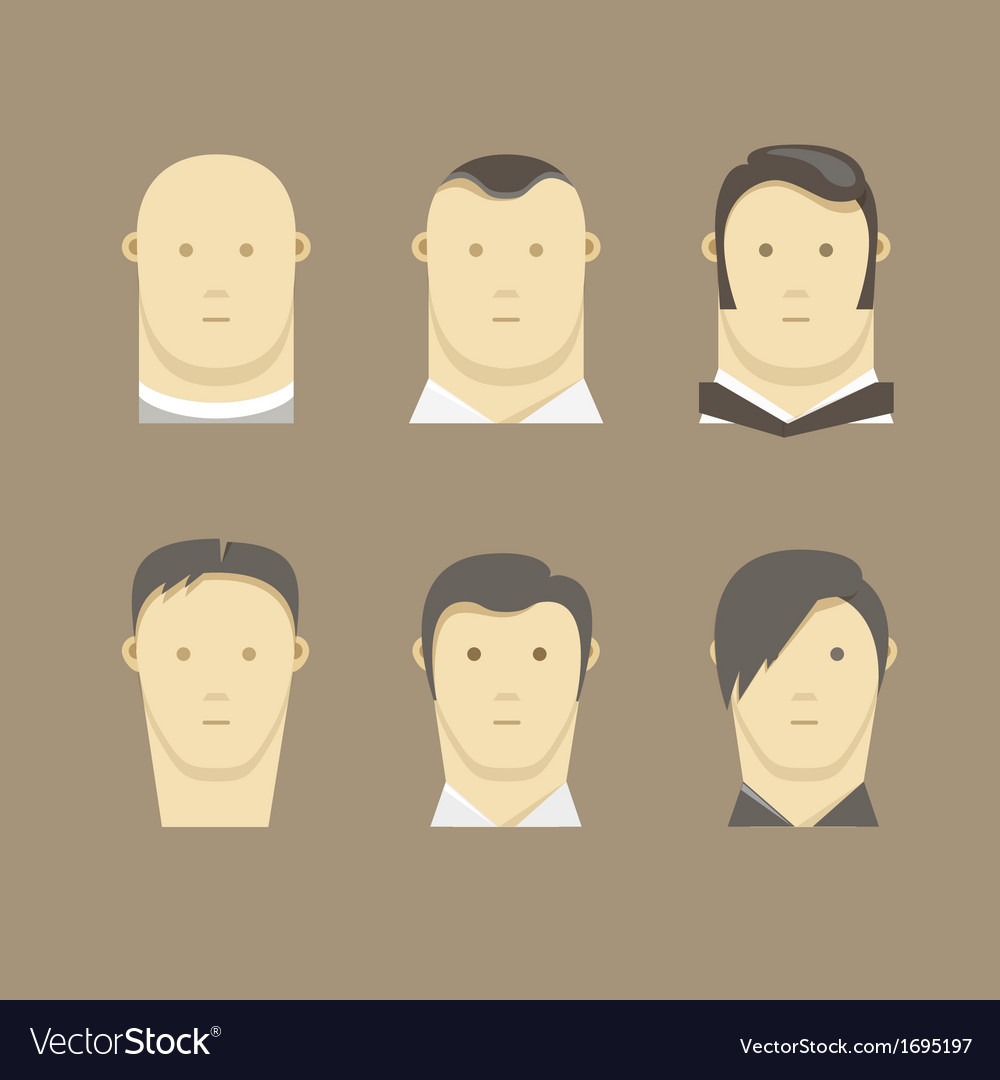 Different men faces style vector | Price: 1 Credit (USD $1)