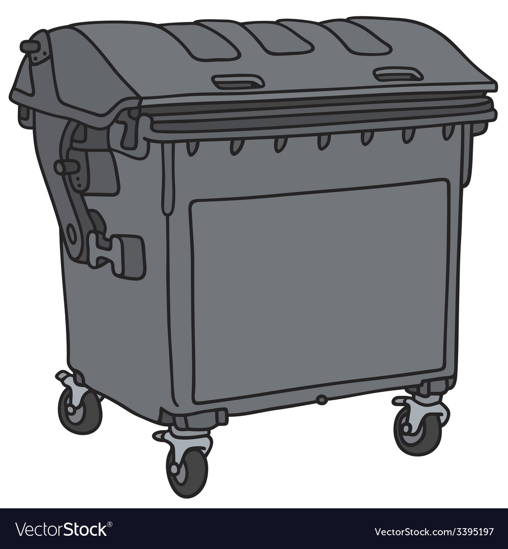 Garbage container vector | Price: 1 Credit (USD $1)