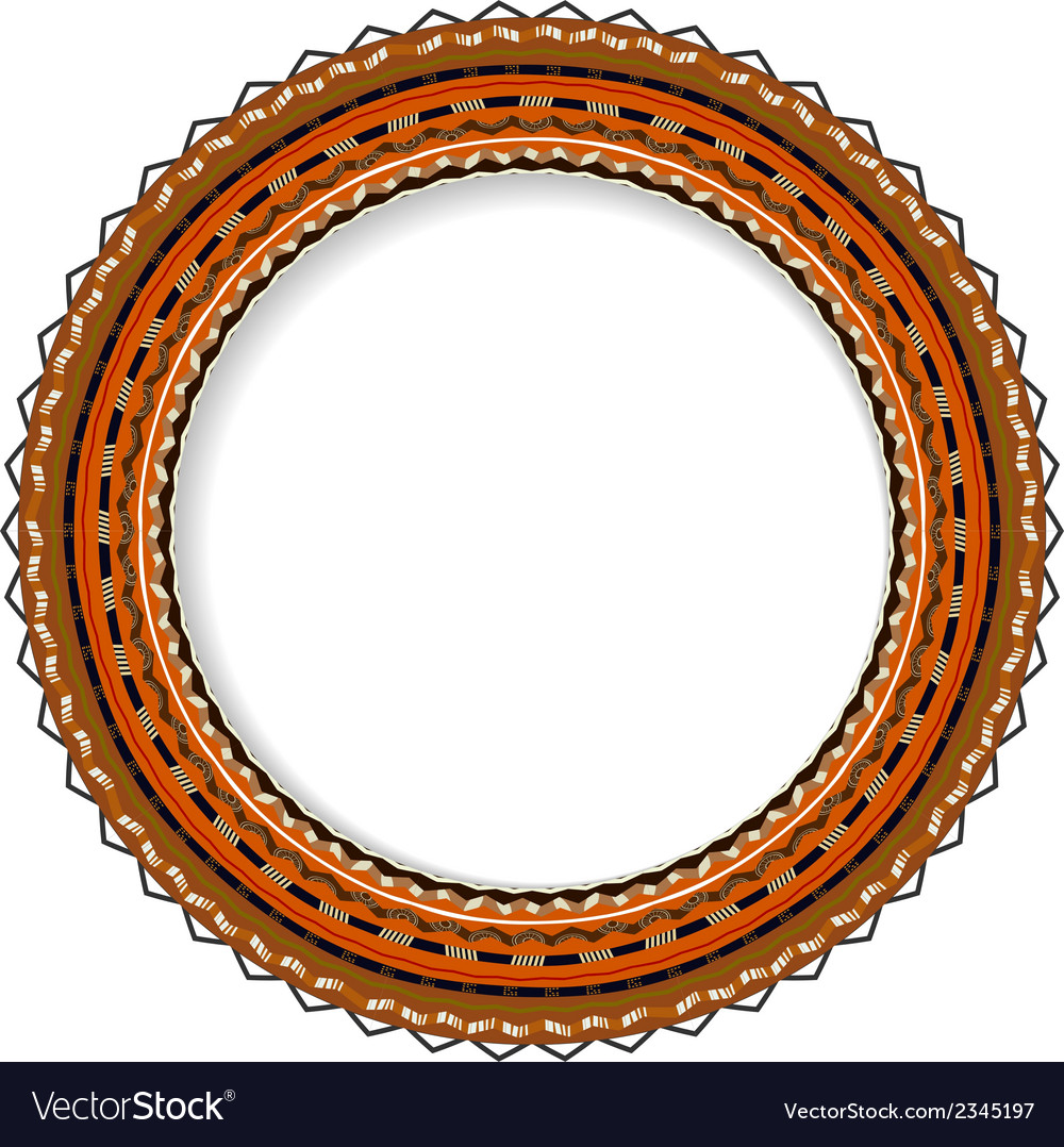 Geometric decorative round rosette vector | Price: 1 Credit (USD $1)