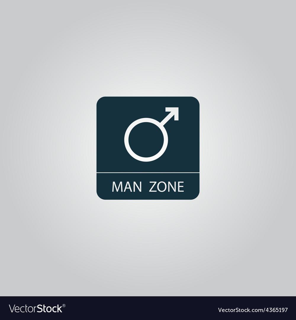 Male symbol man vector | Price: 1 Credit (USD $1)