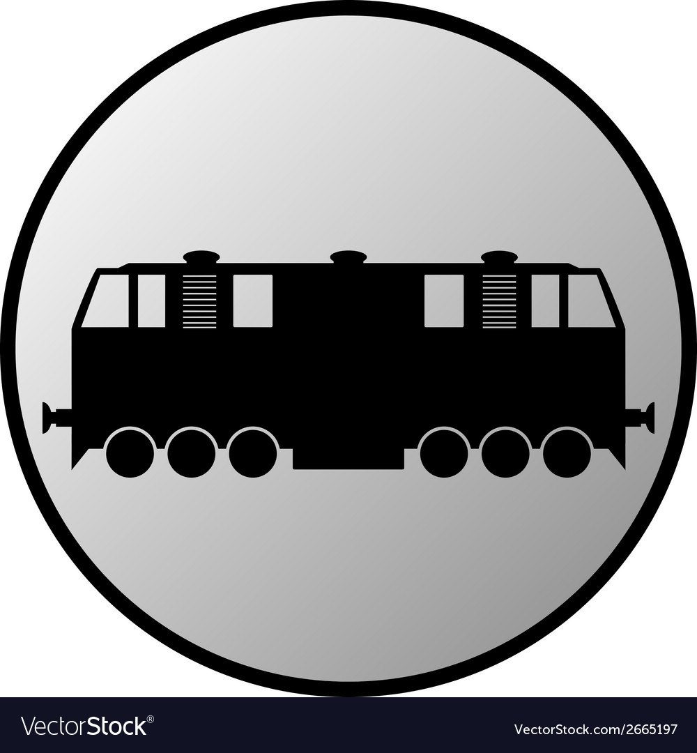Train button vector | Price: 1 Credit (USD $1)