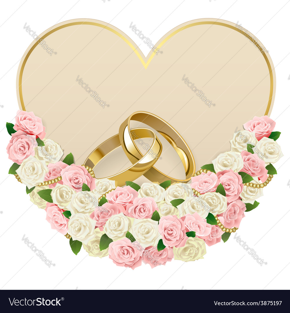 Wedding card with rings vector | Price: 3 Credit (USD $3)