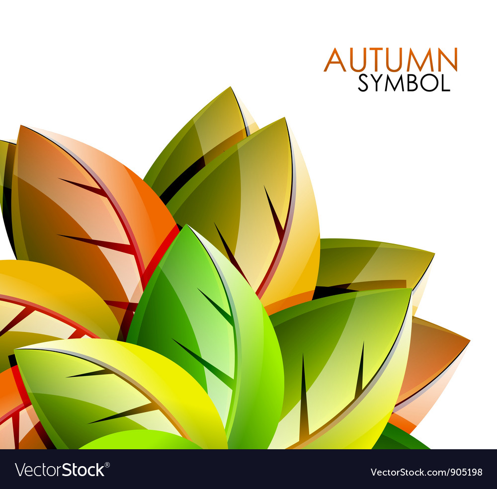 Autumn leaves concept background vector | Price: 1 Credit (USD $1)