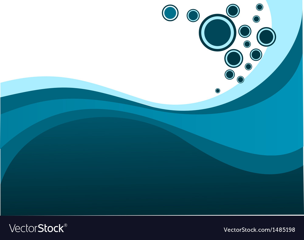 Blue waves and bubbles vector | Price: 1 Credit (USD $1)