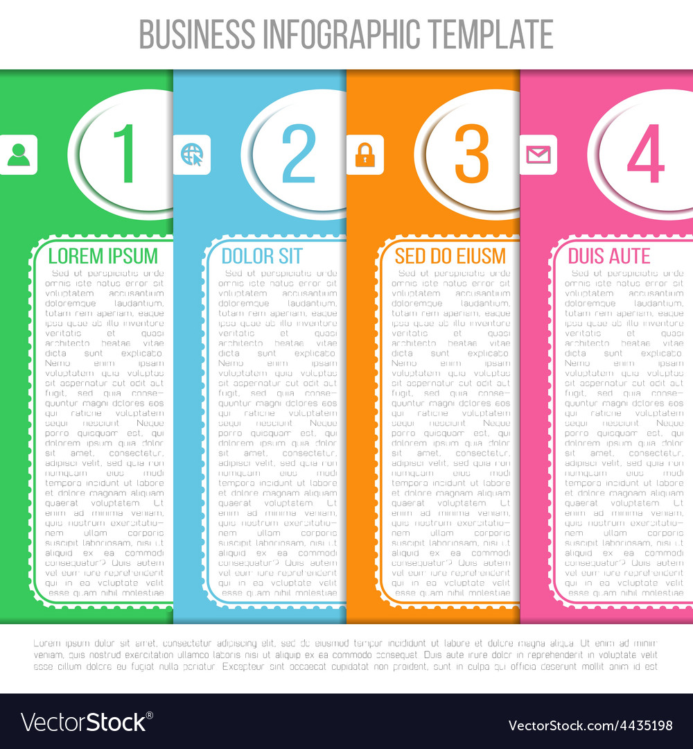 Bright infographic template suitable for business vector | Price: 1 Credit (USD $1)