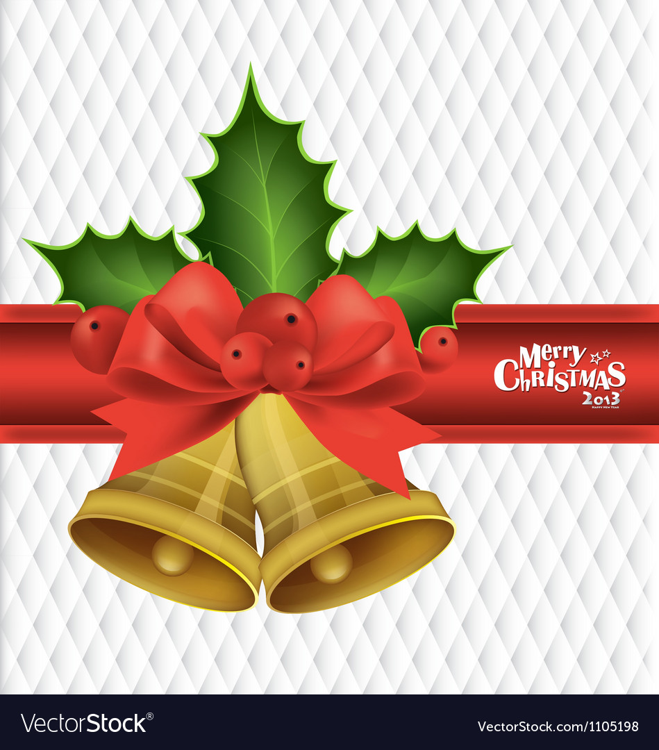 Christmas background with christmas bells vector | Price: 1 Credit (USD $1)