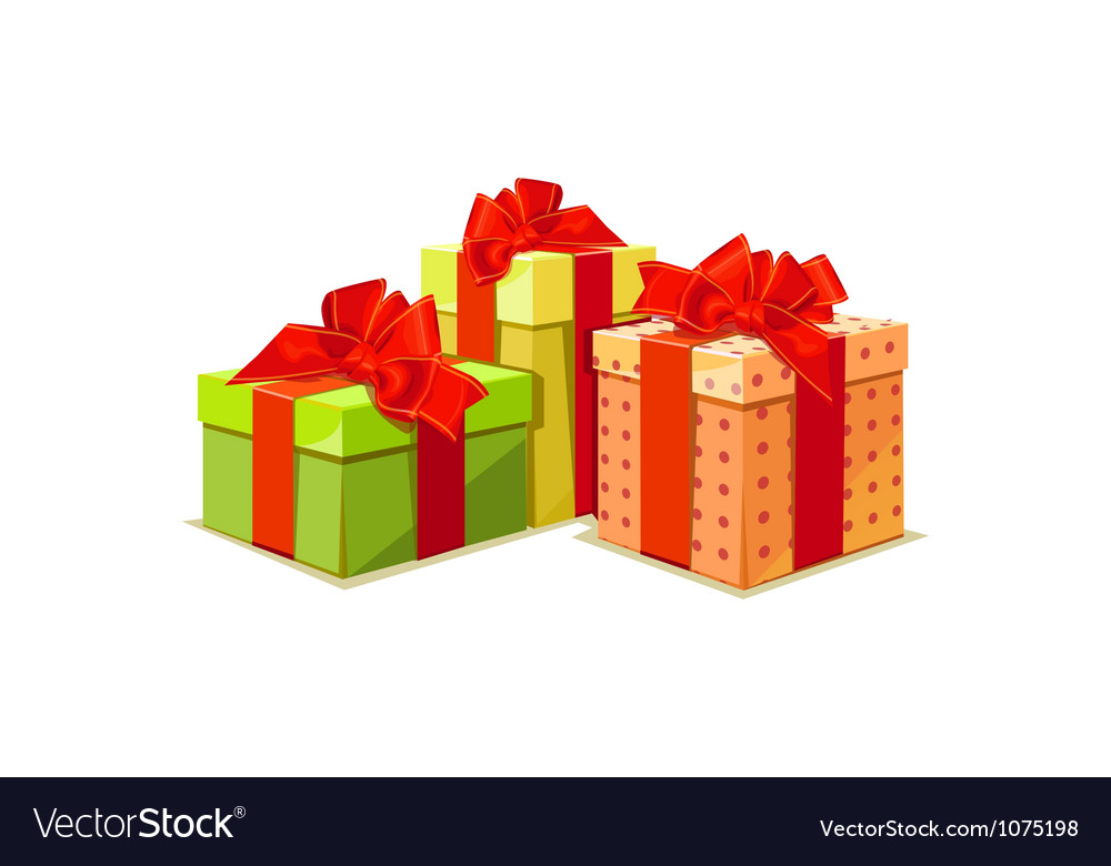 Colorful gift box on white background vector   Price: 1 Credit (USD $1)