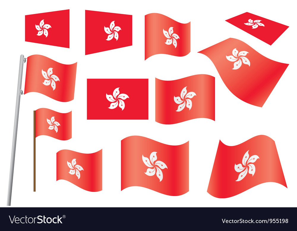 Flag of hong kong vector | Price: 1 Credit (USD $1)