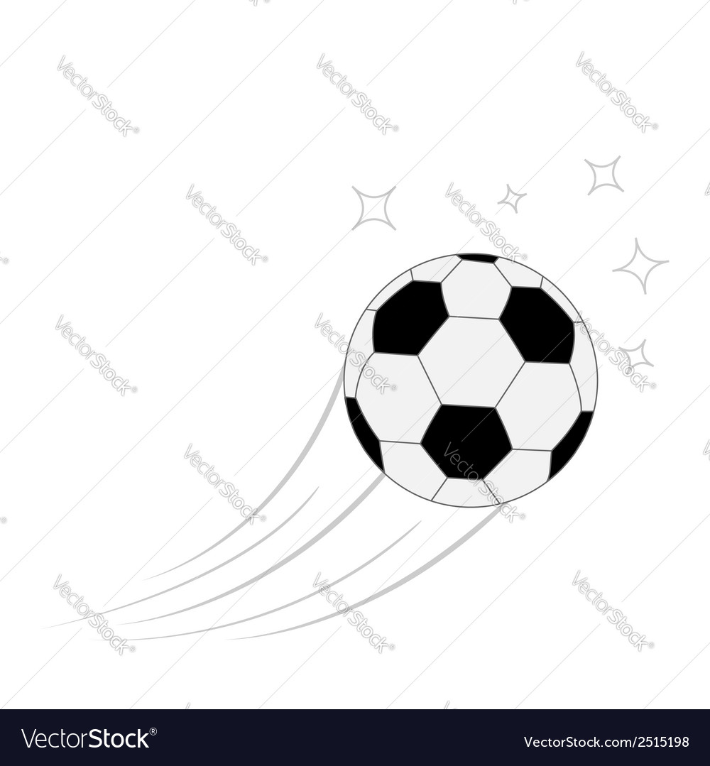 Flying football soccer ball motion trails white vector | Price: 1 Credit (USD $1)