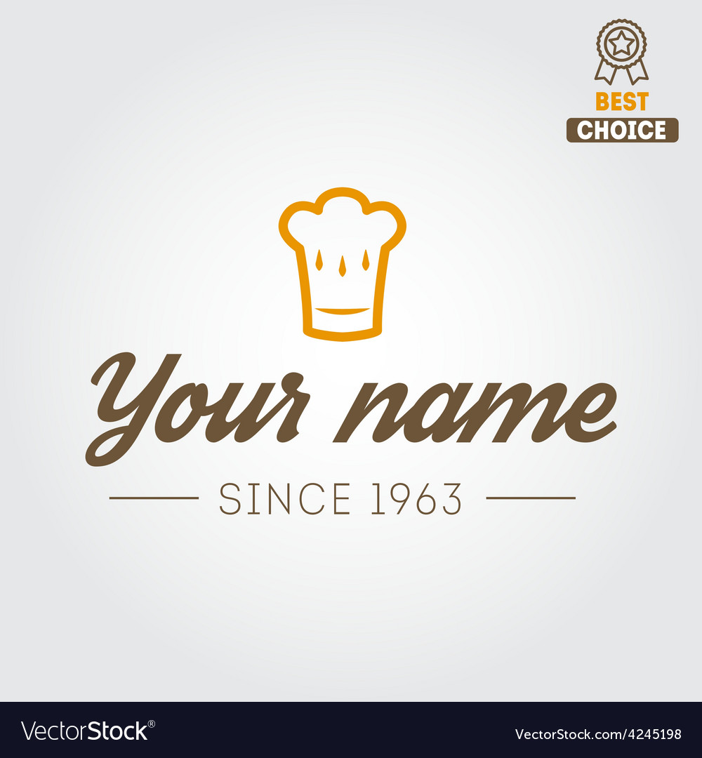 Logo or badge for restaurant cafe and bar vector   Price: 1 Credit (USD $1)