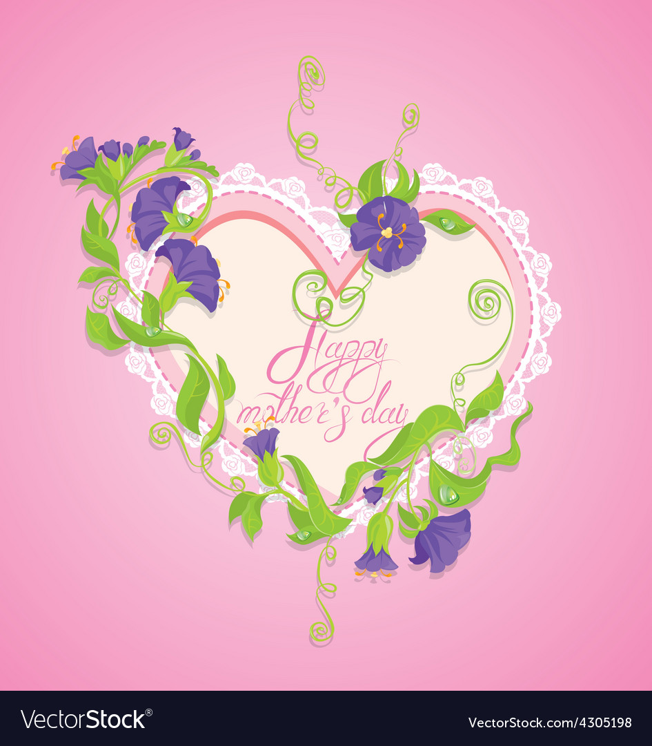 Mother day card 4 380 vector | Price: 1 Credit (USD $1)