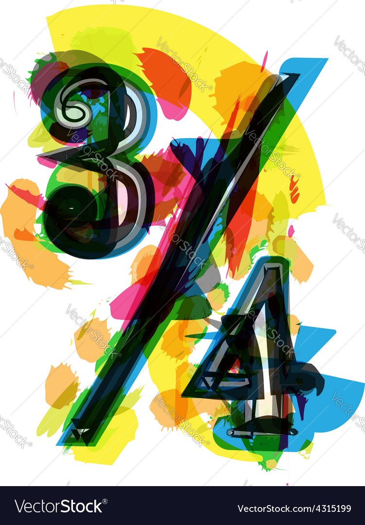 Artistic abstract colorful quarters sign vector | Price: 1 Credit (USD $1)